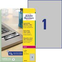 Avery Zweckform L6013-8 öntapadós ezüst ipari címke