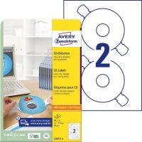 Avery Zweckform L6015-25 öntapadó CD címke