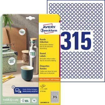 Avery Zweckform L6019REV-25 nyomtatható öntapadós etikett címke