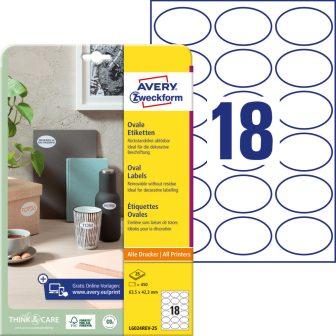 Avery Zweckform L6024REV-25 nyomtatható öntapadós etikett címke
