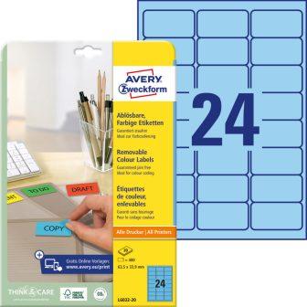 Avery Zweckform L6032-20 öntapadós etikett címke