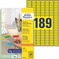 Avery Zweckform L6037-20 öntapadós etikett címke