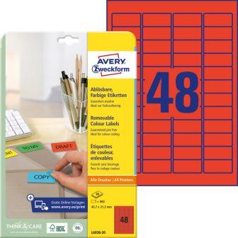 Avery Zweckform L6038-20 öntapadós etikett címke