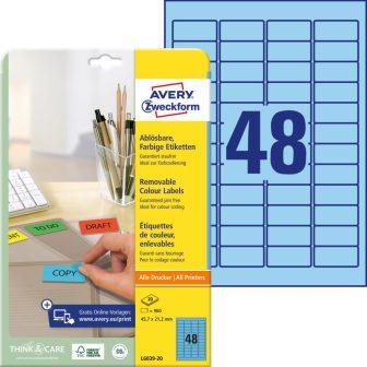 Avery Zweckform L6039-20 öntapadós etikett címke