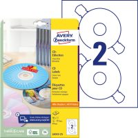 Avery Zweckform L6043-25 öntapadó CD címke