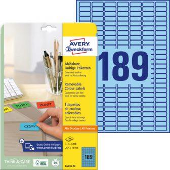 Avery Zweckform L6048-20 öntapadós etikett címke