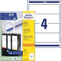 Avery Zweckform L6061-100 nyomtatható öntapadós iratrendező címke