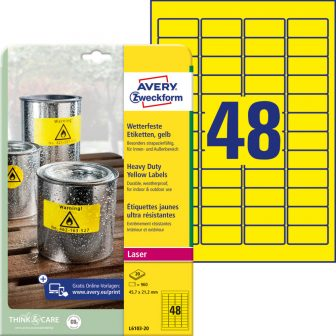 Avery Zweckform L6103-20 öntapadós etikett címke