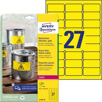 Avery Zweckform L6105-20 öntapadós etikett címke