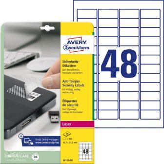 Avery Zweckform L6113-20 öntapadós etikett címke