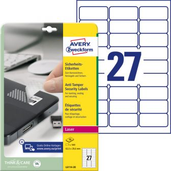 Avery Zweckform L6114-20 öntapadós etikett címke