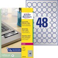 Avery Zweckform L6129-20 öntapadós ezüst ipari címke