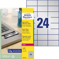 Avery Zweckform L6133-20 öntapadós ezüst ipari címke