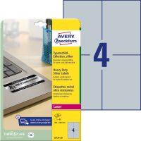 Avery Zweckform L6134-20 öntapadós ezüst ipari címke