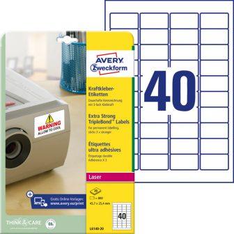 Avery Zweckform L6140-20 öntapadós etikett címke