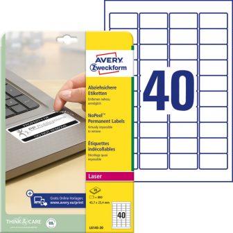 Avery Zweckform L6145-20 öntapadós etikett címke