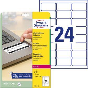 Avery Zweckform L6146-20 öntapadós etikett címke
