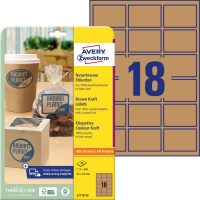 Avery Zweckform L7110-25 nyomtatható öntapadós etikett címke