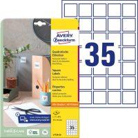Avery Zweckform L7120-25 nyomtatható öntapadós QR-kód címke