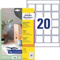 Avery Zweckform L7121-25 nyomtatható öntapadós QR-kód címke