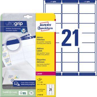 Avery Zweckform L7160-40 öntapadós etikett címke