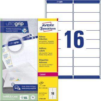 Avery Zweckform L7162-250 öntapadós etikett címke