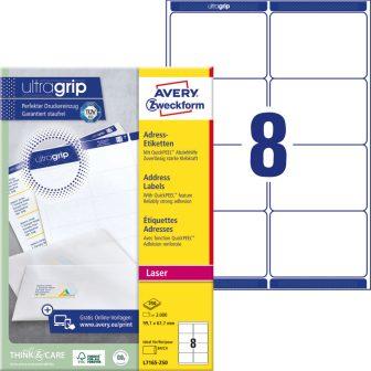 Avery Zweckform L7165-250 öntapadós etikett címke