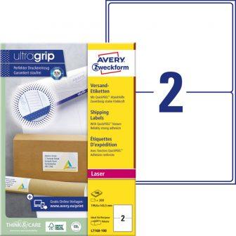 Avery Zweckform L7168-100 öntapadós etikett címke