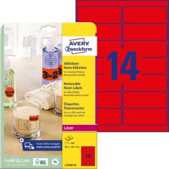 Avery Zweckform L7263R-25 öntapadó etikett címke