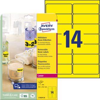 Avery Zweckform L7263Y-25 öntapadó etikett címke