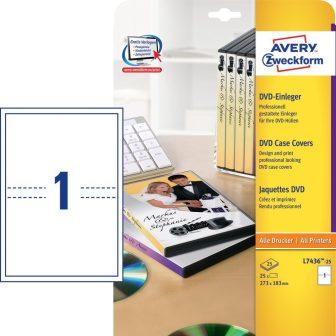 Avery Zweckform L7436-25 mikroperforált DVD tok betét