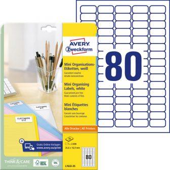 Avery Zweckform L7632-25 nyomtatható öntapadós jelölő címke