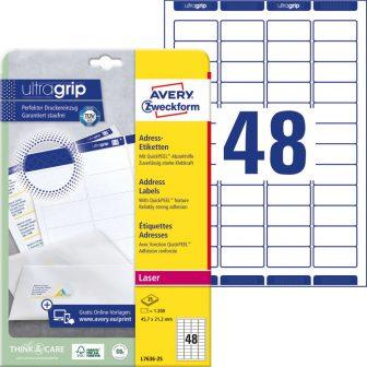 Avery Zweckform L7636-25 öntapadós etikett címke