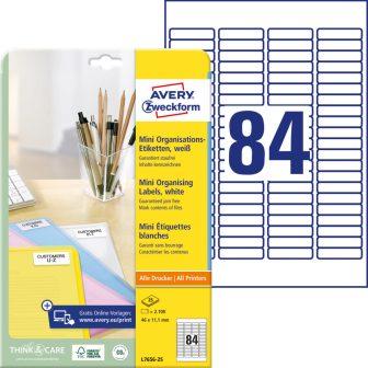 Avery Zweckform L7656-25 nyomtatható öntapadós jelölő címke
