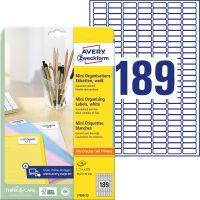 Avery Zweckform L7658-25 nyomtatható öntapadós jelölő címke