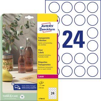 Avery Zweckform L7780-25 öntapadós etikett címke