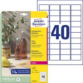 Avery Zweckform L7781-25 öntapadós etikett címke