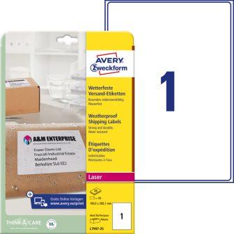 Avery Zweckform L7997-25 öntapadós etikett címke