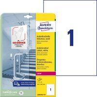 Avery Zweckform L8001REV-10 öntapadós antimikrobiális etikett címke