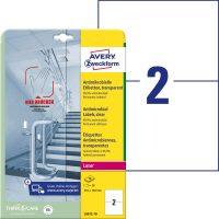 Avery Zweckform L8012-10 öntapadós antimikrobiális etikett címke