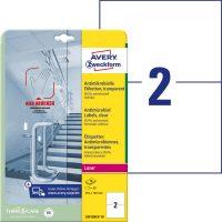 Avery Zweckform L8012REV-10 öntapadós antimikrobiális etikett címke