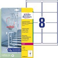 Avery Zweckform L8014REV-10 öntapadós antimikrobiális etikett címke