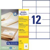 Avery Zweckform LR3424 környezetbarát öntapadós etikett címke