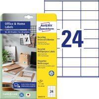 Avery Zweckform 70 x 36 mm méretű, környezetbarát nyomtatható öntapadós etikett címke