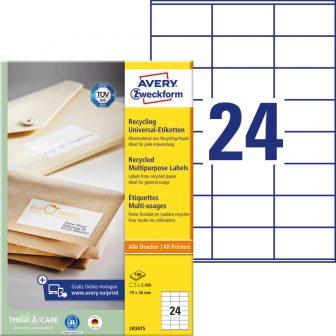 Avery Zweckform LR3475 öntapadós etikett címke