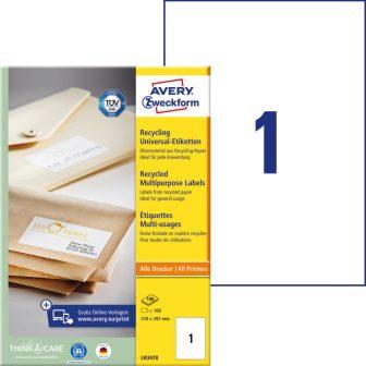 Avery Zweckform LR3478 környezetbarát öntapadós etikett címke