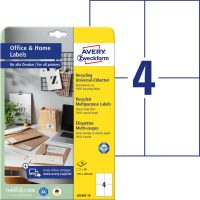 Avery Zweckform 105 x 148 mm méretű, környezetbarát nyomtatható öntapadós etikett címke