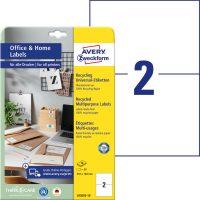 Avery Zweckform 210 x 148 mm méretű, környezetbarát nyomtatható öntapadós etikett címke