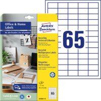 Avery Zweckform 38,1 x 21,2 mm méretű, környezetbarát nyomtatható öntapadós etikett címke
