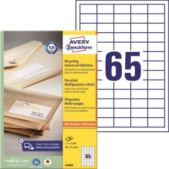 Avery Zweckform LR3666 környezetbarát öntapadós etikett címke